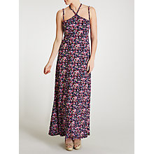 Buy John Lewis Braid Faded Floral Maxi Beach Dress, Navy Floral Online at johnlewis.com