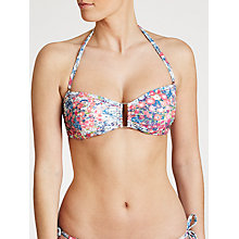 Buy John Lewis Textured Ditsy Floral Bikini Top, Multi Online at johnlewis.com