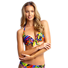 Buy Seafolly Oasis Booster Halter Bikini Top, Multi Online at johnlewis.com