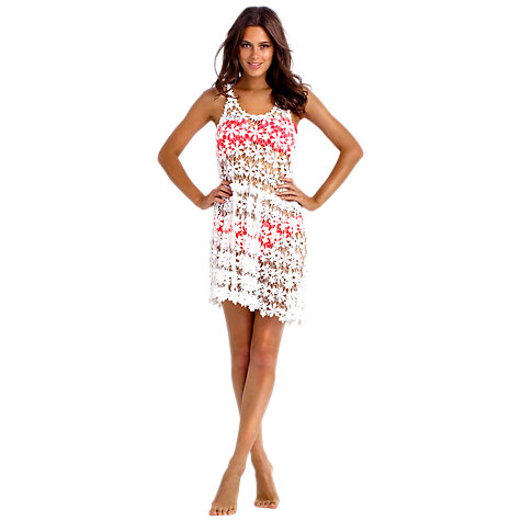 Buy Seafolly Bandit Cover Up Dress, White Online at johnlewis.com