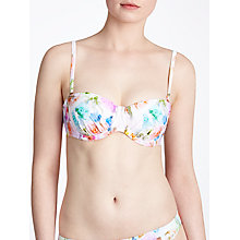 Buy Ted Baker Cristty Floral Bikini Top, Pale Green Online at johnlewis.com