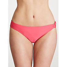 Buy John Lewis Plain Ring Detail Bikini Briefs, Coral Online at johnlewis.com