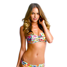 Buy Seafolly Summer Garden Bandeau Bikini Top, Mint Online at johnlewis.com