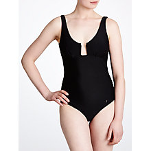 Buy Ted Baker Jessa Classic Angular Wire Swimsuit, Black Online at johnlewis.com