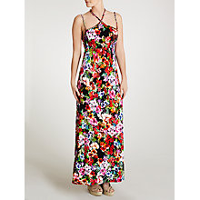 Buy John Lewis Braid Detail Watercolour Maxi Beach Dress, Floral Print Online at johnlewis.com