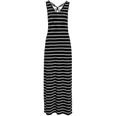 Buy John Lewis Twist Back Maxi Beach Dress, Black / White Online at johnlewis.com