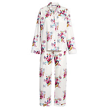 Buy John Lewis Rose Print Pyjama Set, Multi / White Online at johnlewis.com