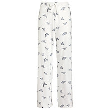 Buy John Lewis Butterfly Print Pyjama Pants, Ivory / Grey Online at johnlewis.com