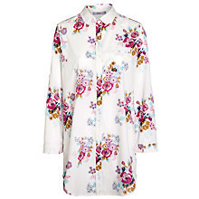 Buy John Lewis Rose Print Nightshirt, Multi / White Online at johnlewis.com