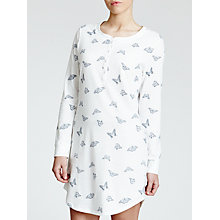 Buy John Lewis Butterfly Print Nightdress, Ivory / Grey Online at johnlewis.com