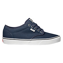 Buy Vans Atwood Canvas Trainers, Navy/White Online at johnlewis.com