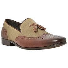 Buy Dune Applaud Tassel Leather Loafers, Tan Online at johnlewis.com