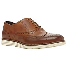 Buy Dune Bayside Wedge Leather Brogues, Tan Online at johnlewis.com