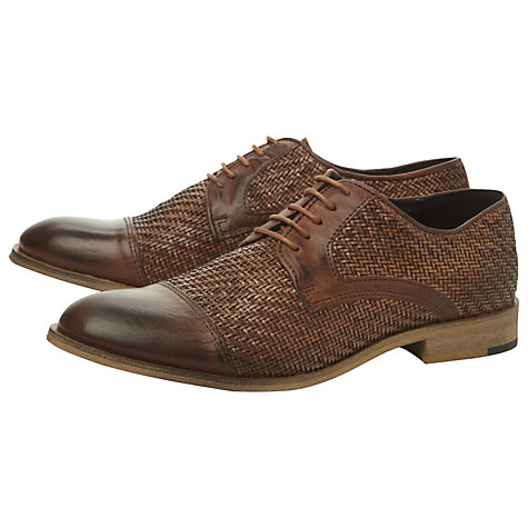 Buy Bertie Baskett Woven Gibson Shoes, Tan Online at johnlewis.com