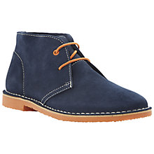 Buy Bertie Clutz Suede Desert Boots, Navy Online at johnlewis.com