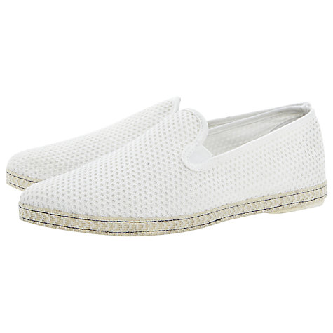 Buy Dune Fence Perforated Espadrilles, Off White Online at johnlewis.com