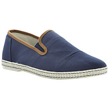 Buy Dune Frampton Canvas Espadrilles, Navy Online at johnlewis.com