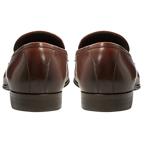 Buy Dune Applause Tassel Leather Loafers, Tan Online at johnlewis.com