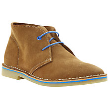 Buy Bertie Clumsy Suede Desert Boots, Tan Online at johnlewis.com