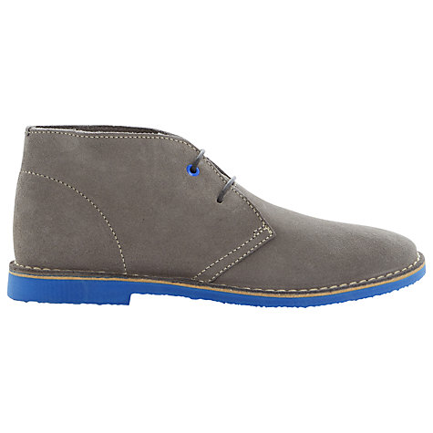 Buy Bertie Clutz Suede Desert Boots, Grey Online at johnlewis.com