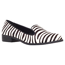 Buy Miss KG Neptune Leather Loafers, White / Black Online at johnlewis.com