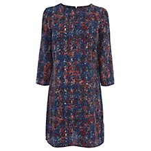 Buy Warehouse Texture Print Shift Dress, Blue Multi Online at johnlewis.com