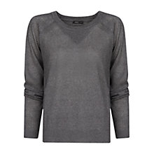 Buy Mango Metallic Sweater, Medium Grey Online at johnlewis.com