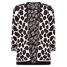 Buy Mango Animal Print Cardigan, Natural White Online at johnlewis.com