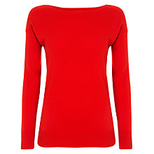 Buy Jaeger Cashmere Boat Neck Knit Top Online at johnlewis.com