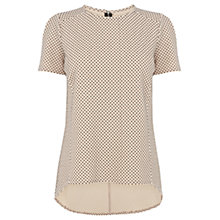 Buy Warehouse Spot Jacquard Top, Light Pink Online at johnlewis.com