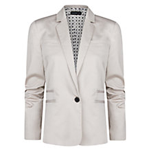 Buy Mango Printed Lining Blazer, Light Beige Online at johnlewis.com