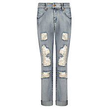 Buy Mango Angie Boyfriend Jeans, Dark Blue Online at johnlewis.com