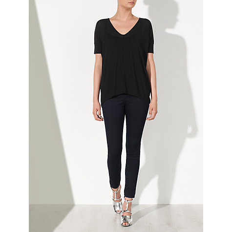 Buy Kin by John Lewis V-Neck Oversized T-shirt, Black Online at johnlewis.com