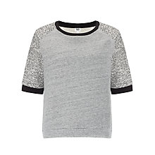 Buy Kin by John Lewis Contrast Sleeve Sweat Top, Grey Online at johnlewis.com
