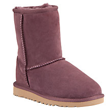 Buy UGG Children's Classic Short Boots, Port Online at johnlewis.com