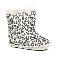 Buy UGG Children's Cassie Leopard Print Boots, Grey/White Online at johnlewis.com
