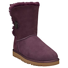Buy UGG Children's Bailey Button Boots, Port Online at johnlewis.com
