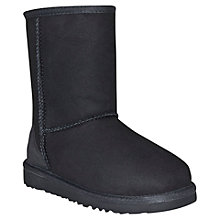 Buy UGG Children's Classic Short Boots, Black Online at johnlewis.com