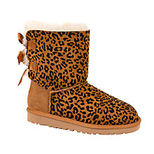 Buy UGG Children's Bailey Bow Rosette Boots, Brown/Multi Online at johnlewis.com