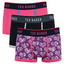 Buy Ted Baker Heart Print Trunks, Pack of 3, Multi Online at johnlewis.com