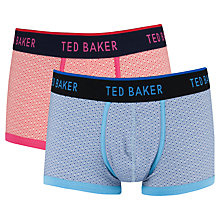 Buy Ted Baker Luford Trunks, Pack of 2, Multi Online at johnlewis.com