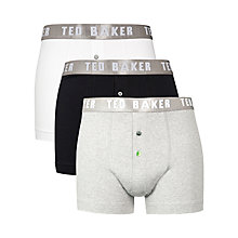 Buy Ted Baker Neilio Stretch Cotton Trunks, Pack of 3, White/Black/Grey Online at johnlewis.com