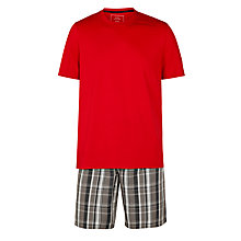 Buy John Lewis Cotton Check Lounge Pants and Short Sleeve T-shirt Online at johnlewis.com
