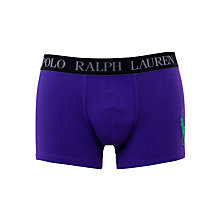 Buy Polo Ralph Lauren Cotton Trunks, Purple Online at johnlewis.com