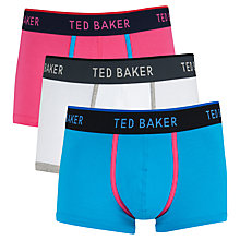 Buy Ted Baker Coloured Trunks, Pack of 3, Multi Online at johnlewis.com