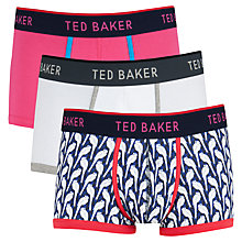 Buy Ted Baker Whitley Trunks, Pack of 3, Multi Online at johnlewis.com