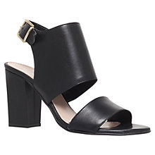Buy Carvela Krackow Leather Chunky Block Heel Sandals, Black Online at johnlewis.com
