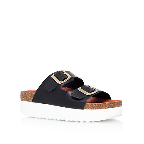Buy KG by Kurt Geiger Nola Flatform Leather Sandals Online at johnlewis.com
