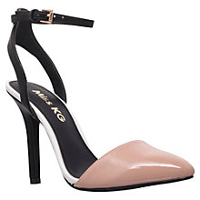 Buy Miss KG Alba Patent Court Shoes, Nude / Black Online at johnlewis.com