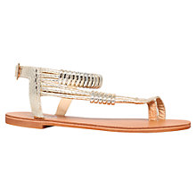 Buy Carvela Klipper Flat Sandals, Gold Online at johnlewis.com